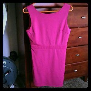 Hot pink short dress
